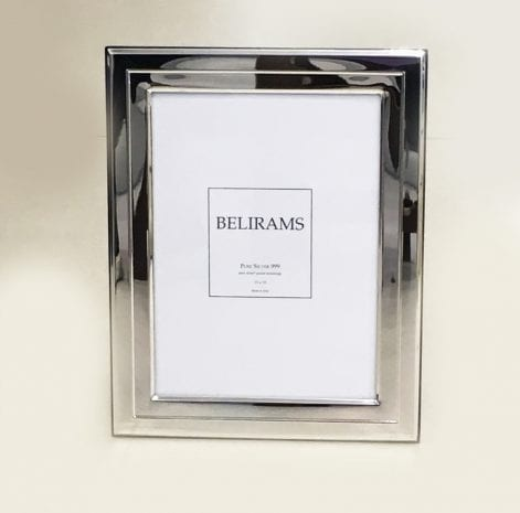 Plain Pure Silver Photo Frame – 13×18 cm photo size