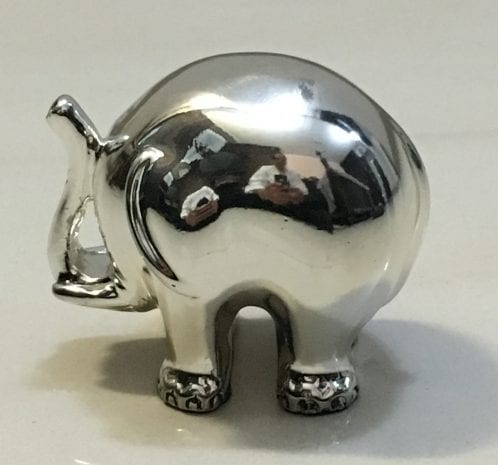 Miniature Silver Elephant for Anniversary Gift – 1.5″ Long
