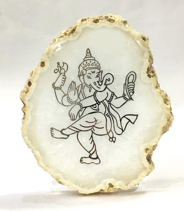 Buy Dancing Silver Ganesh Frame – 4.2 Inch