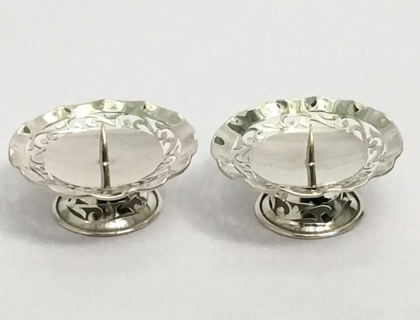 Pure Silver Candle Holder Pair with Price – 3 Inch Diameter