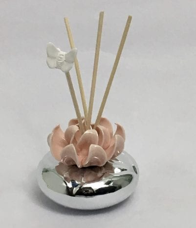 Buy Silver Incense Diffuser Gift Pink 3.5 Inch