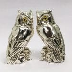 Buy Silver Owl Pair Statue gift, 7.2 Inch Ht.
