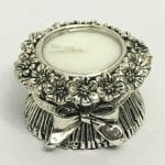 Silver Tea Light Candle Holder Stand – 2.5″ – Resin Silver