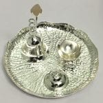 Unique Pooja Thali Gift Online – Silver Plated