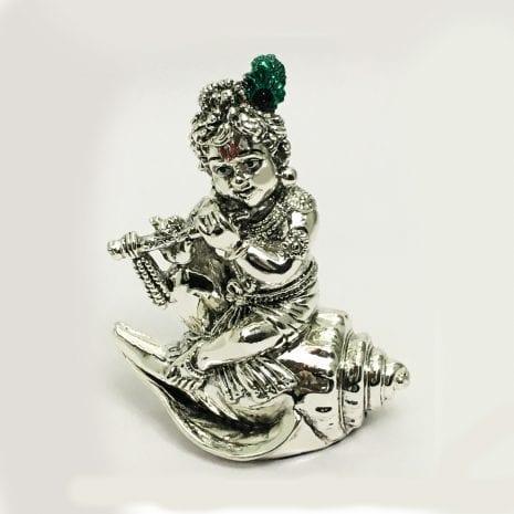 Silver Baby Krishna Statue Gift –  4.5 inch