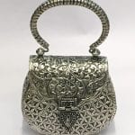 Hand Made Silver Plated Ladies Purse with Price
