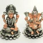 Small Silver Ganesh Laxmi Murti with Price – 2.7 Inch