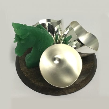 Designer Silver Plated Candy Peanut or Nut Bowl