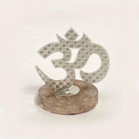 Silver Plated Om on a Stand | 3.7″ Ht