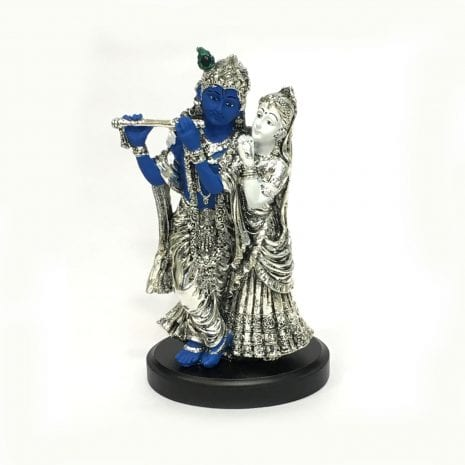 Best Silver Radha Krishna Idol | in Color | 8.5″