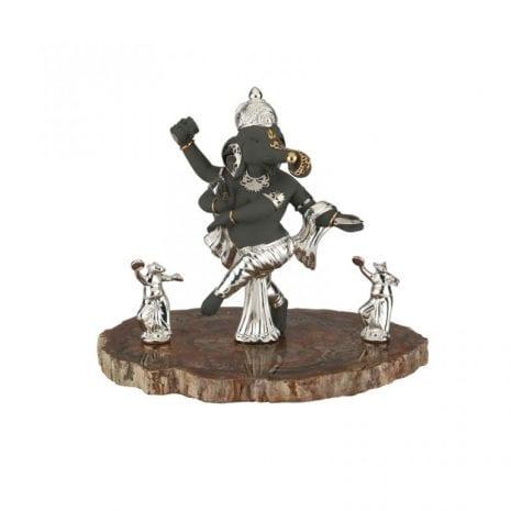 Fine Silver Dancing Ganesh statue – 28 cm Ht.