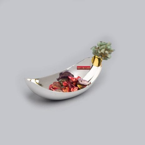 Buy Silver Plated Tree Boat Dish | 8.0 inch