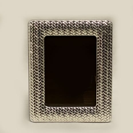 Silver Photo Frame Cross Net Pat. | 13×18 cm photo size