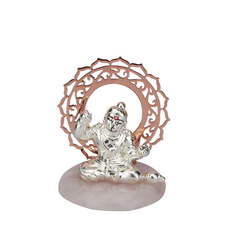 A Small Silver Hanuman with Chakra | 10 cm