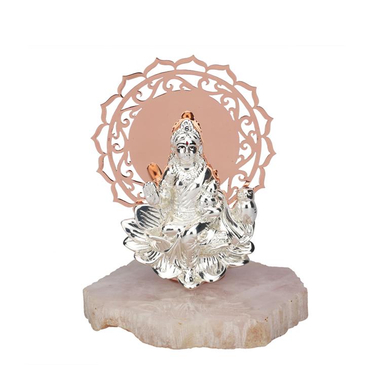 A Silver Laxmi with Big Chakra | 18 cm