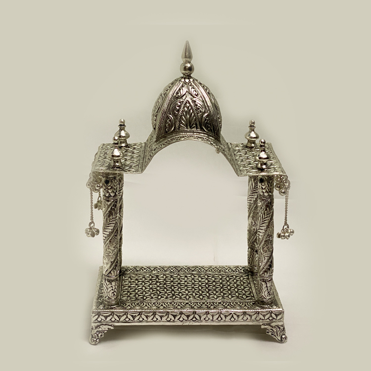 Buy Silver Plated Mandir with Price | 12 Inch
