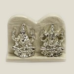 Cute Mini Silver Laxmi Ganesh Pair | 2.2 Inch