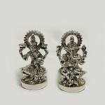 Buy Mini Silver Laxmi Ganesh Pair | 3.0 Inch