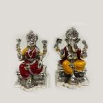 Best Silver Laxmi Ganesh Idol Pair | 6.0 Inch
