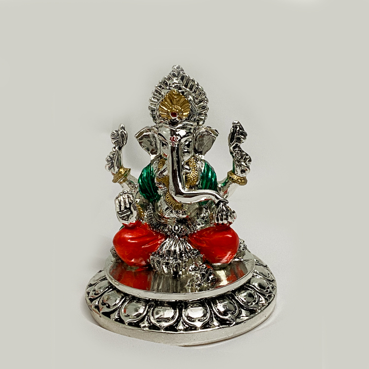 Best Silver Ganesh Color Statue | 4.2 Inch
