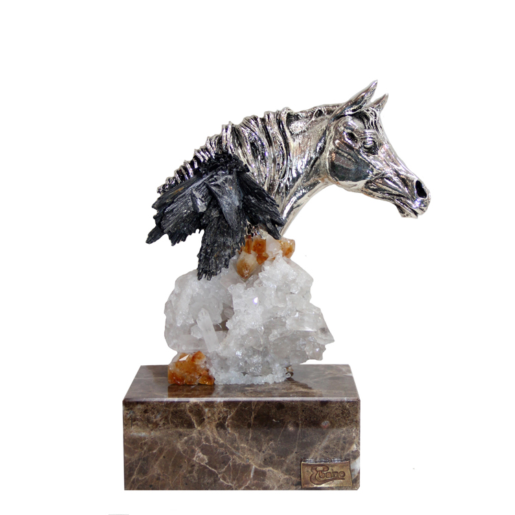 Exquisite Stallion on Real Carnilian Base | 11″