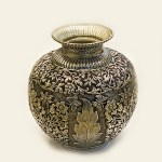 Antique Silver Plated Kalash | 10 Inch
