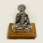 Silver Guru Nanak Dev on Base | 6 Inch