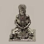 Silver Hanuman Reading Geeta   7.5″ Ht.