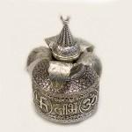 Royal Silver Plated Kalash with Nariyal | 9 Inch