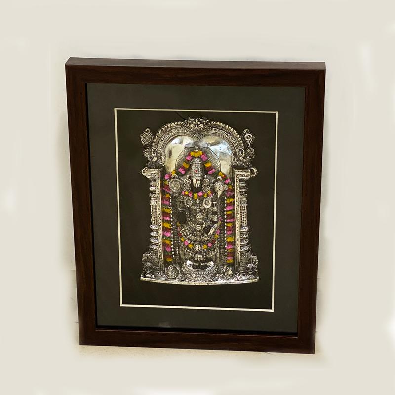 Silver Wall Plaque of Bala Ji | 13 Inch