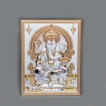 Silver Wall Plate of Lord Ganesha | 12.5 Inch