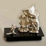 Contemporary Silver Shiv Ganesha  | 7 Inch
