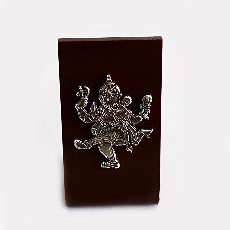 A Mini Dancing Silver Ganesh Idol   2 Inch