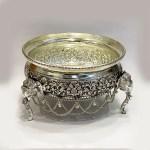 a Super Silver Antique Bowl or Urli | 8 Inch