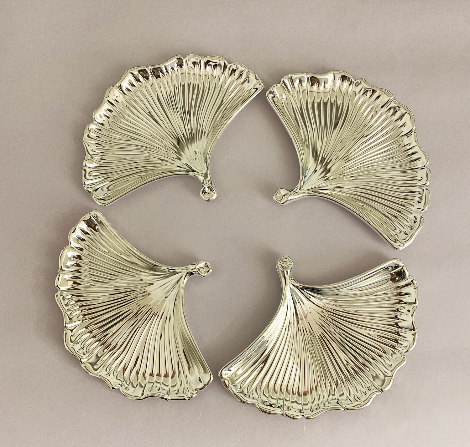 Silver Plated Shell Dish set of four   6.0×4.5″ each