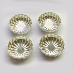 Bowl Set of 4 Bowls in Fluted Design | 4″ dia each