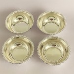 Silver Plated Set of 4 Bowls – Ball Bead | 4.5″ each