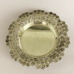 Antique Silver Plated Round Dish | 9″ dia