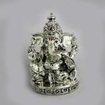 Artistic Antique Silver Ganesh Idol | 3.5 inch