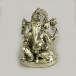 Buy Ashirwad Silver Ganesh Statue   4.5 inch