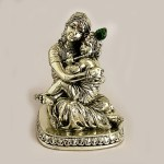 Silver Yashoda Nandlala Statue   5.2 inch
