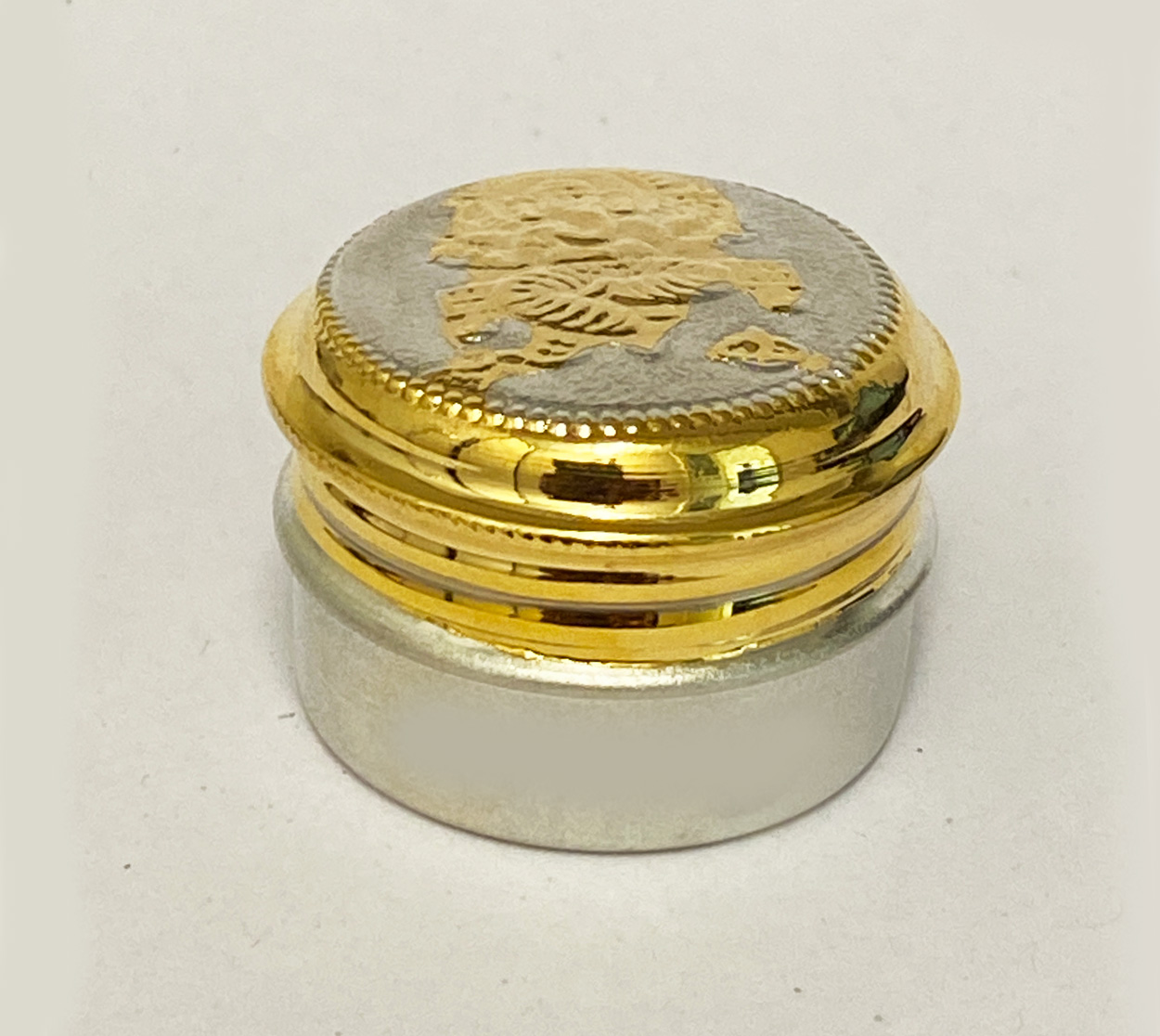 Pure Silver Mini Box Gold Tone   1.2 Inch