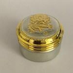 Pure Silver Mini Box Gold Silver Finish   1.3 Inch