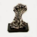 Antique Silver Krishna on Sheshnaag | 8.7 inch