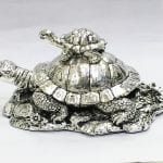 Buy Large Silver Turtle Gift Online 7.2 Inch – Resin Silver