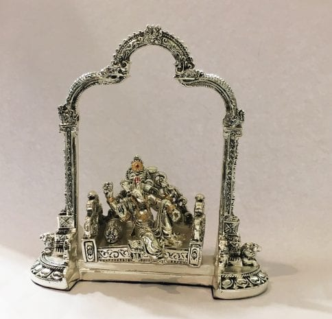 Silver Lord Ganesha Idol Gift for Diwali 8.5″