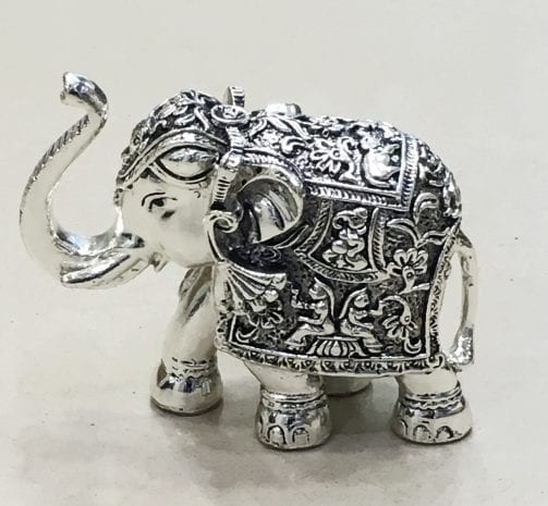 Silver Elephant for sale 4.5″ in Resin Silver