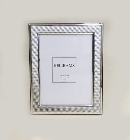 Silver Textured Picture Frame – 13×18 cm photo size – 925 Sterling Silver