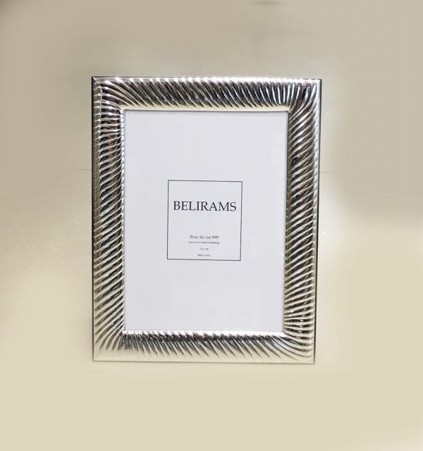 Fluted silver picture frame – 13×18 cm photo size – 925 Sterling Silver