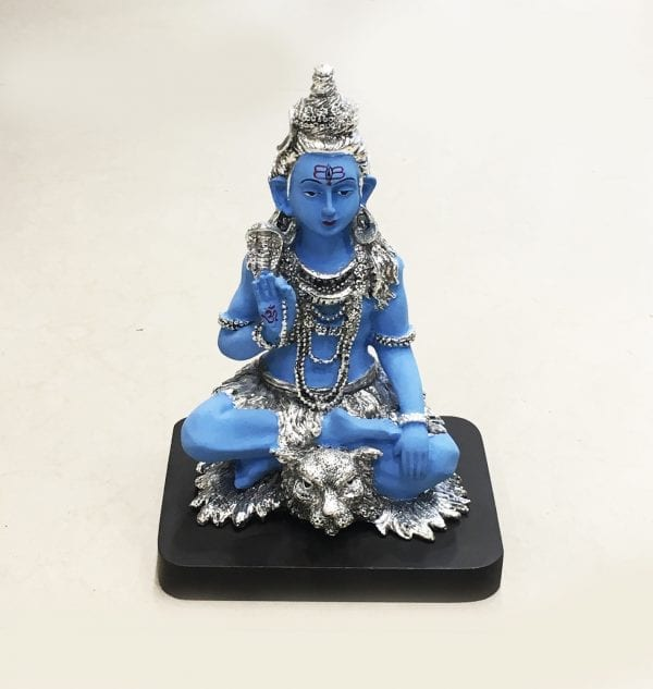 Best Silver Lord Shiva Statue Gift 7.5″ – Resin Silver